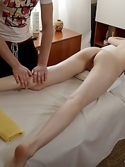 Sweet tiny cutie seduced by her masseur